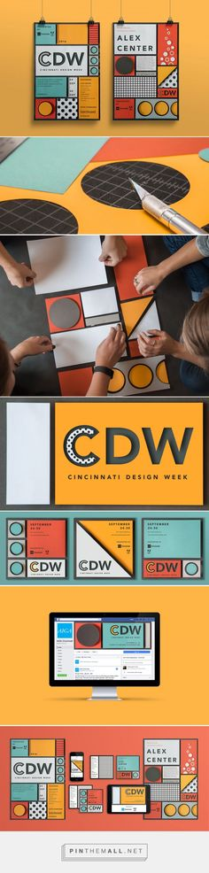 AIGA Cincinnati Design Week Branding by Hyperquake, LLC Fivestar Branding Agency – Design and Branding Agency & Curated Inspiration Gallery Dm Poster, Design Poster, Graphic Design Branding, Corporate Design, Identity Design, Packaging Design, Posters, Visual Identity, Graphisches Design