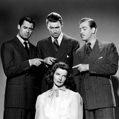 Katharine Hepburn The Philadelphia Story with Cary Grant and James Stewart The Philadelphia Story
