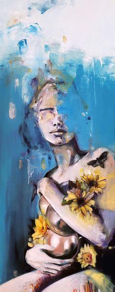 Oil on canvas, 150x60 cm. by @maria_alvarez_e Oil On Canvas, Painting, Artists, Painting Art, Paintings, Painted Canvas, Drawings