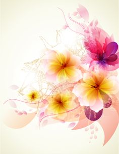 From my unfinished song. Flower Backgrounds, Abstract Backgrounds, Colorful Backgrounds, Background Pictures, Vector Background, Wallpaper Keren, Floral Banners, Vector Flowers, Romantic Flowers