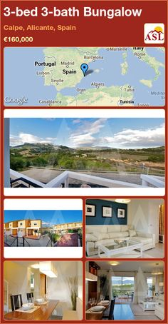 Bungalow for Sale in Calpe, Alicante, Spain with 3 bedrooms, 3 bathrooms - A Spanish Life Calpe Alicante, Alicante Spain, Bungalows For Sale, Seville, Casablanca, Lisbon, Madrid, Spanish, Things To Come