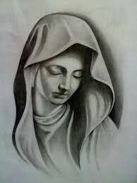 Virgin Mary Art, Blessed Virgin Mary, Jesus Drawings, Girl Face Tattoo, Jesus Tattoo, Chicano, New Tattoos, Tattoo Designs, 1