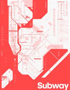 One colour subway map, Duane King.