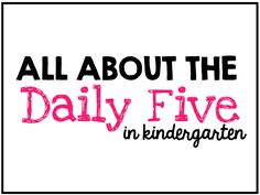 Daily Five Virtual P
