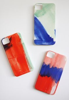 Watercolor iPhone 5 or 4 Case - Choose your color. $39,99, via Etsy.