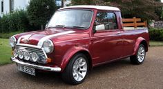 Hemmings News has listed this Austin Mini Cooper S Mk. II Pickup Truck as their Car of The Day for April Pickup Trucks For Sale, Jeep Pickup Truck, Vintage Pickup Trucks, Classic Pickup Trucks, Vintage Cars, Truck Flatbeds, Mini Cooper S, Classic Mini, Classic Cars