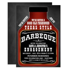 #Texas Style BBQ Party Invitations - #engagement #party #invitations #weddinginvitations #wedding #invitations #party #card #cards #invitation #engagementparty