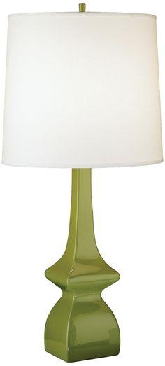 Jayne Artichoke Green Glazed Ceramic Table Lamp -