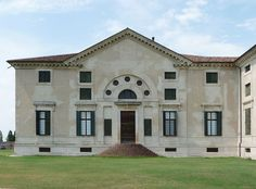 Villa Poiana, Palladio 1550 - What would it look like with full-height windows beside the door? What about without the mezz windows above the flanking windows?