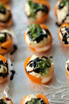 Apricot Ricotta Honey Basil Bites - the perfect little summer appetizer.