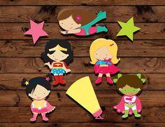 Pieza central de niña superhéroe cumpleaños partido partido
