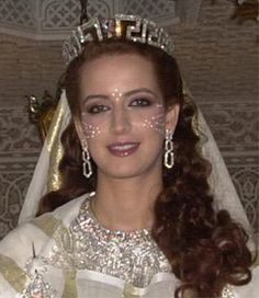 Princess Sala of Morocco in a Greek Key tiara by Chaumet