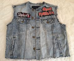 Metallica Iron Maiden Slipknot Mens Biker Heavy Metal Distressed Denim Vest XL in eBay Motors, Parts & Accessories, Apparel & Merchandise | eBay