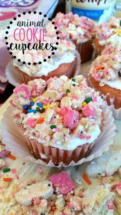 Animal Cookie Cupcakes Recipe