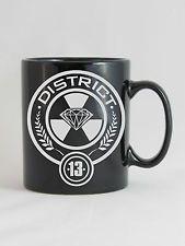 Hunger Games Inspired District 13 Mug - Sandblasted Medium Ceramic coffee mug