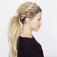 Twisted ponytail by Blohaute