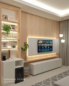 Tv Unit Furniture Design, Tv Unit Interior Design, Cozy Living Rooms, Home Living Room, Living Room Decor, India Home Decor, Sofa Bed Design, Living Room Tv Unit Designs, Home Room Design