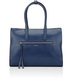TRUSSARDI Top-Zip Tote Bag. #trussardi #bags #leather #hand bags #tote #