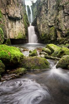 Catrigg Force Falls, Stainforth, Yorkshire Dales, England (good for Alexia waterfall) Yorkshire Dales, Yorkshire England, North Yorkshire, Visit Yorkshire, Cornwall England, England Uk, London England, Beautiful Waterfalls, Beautiful Landscapes