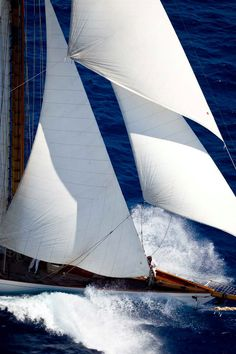 Did you know that Menorca is an amazing place to go sailing as well? Nothing as sexy as a man who can handle a boat. Classic Sailing, Classic Yachts, Yacht Boat, Yacht Design, Sail Away, Set Sail, Am Meer, Wooden Boats, Tall Ships