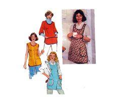 Women's Set Of Aprons Eyelet Trim Size by HoneymoonBus Apron Sewing, Bias Tape, Vintage Sewing Patterns, Etsy Vintage, 1970s, Summer Dresses, Handmade, Stuff To Buy, Shopping