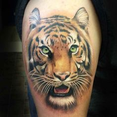 45 Gorgeous Tiger Tattoo - Meanings & Design For Men and Women Check more at http://tattoo-journal.com/40-stunning-tiger-tattoos/