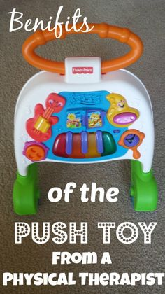 Benefits of the Push Toy Before Walking – A Physical Therapist Perspective   Push toys are a great toy for your baby even before they are ready to walk with it!!!