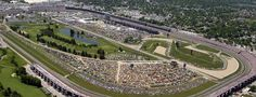 Indianapolis Motor Speedway (located in Speedway, IN, it is the home of the Indianapolis 500 and the Brickyard 400).