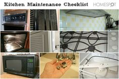 Keep the kitchen in good shape with this maintenance checklist
