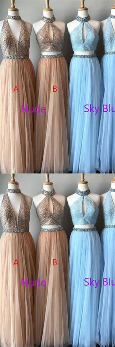 Sparkly Long Flowy Beaded Tulle Sleeves A-line Graduation Dresses Prom Dresses Z0753 #promdresses #promdress #promgowns #promdresses2018 #eveningdresses #longpromdresses #sparkly #beaded #beading #homecomingdresses #graduationdresses #partydresses #weddingpartydresses #beautifuldresses #charming