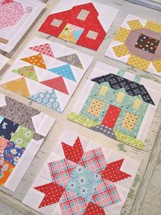 Farm Girl Vintage quilt blocks