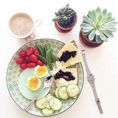 Вкусный и полезный завтрак с кофе