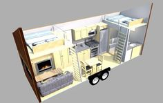 Here is the ESCAPE traveler 269 sq. tiny house on wheels. You can tow this RV licensed long tiny house with most standard pick up trucks. Tiny House Cabin, Tiny House Living, Tiny House Plans, Tiny House Design, Tiny House On Wheels, Small Living, Living Room, Tiny House Trailer Plans, Tiny House Layout