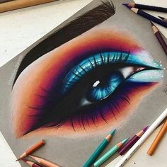 haar zeichnen Hello Everyone! heres this colorful eye i drew! this drawing is actual. Hello Everyone! heres this colorful eye i drew! this drawing is actual. Pencil Drawing Tutorials, Pencil Art Drawings, Art Drawings Sketches, Drawing Tips, Sketch Drawing, Art Illustrations, Sketching, Amazing Drawings, Colorful Drawings