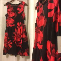 NWT Calvin Klein fit and flare dress with pockets Scuba Fabric, Calvin Klein Red, Dress Up, Flare Dress, Gorgeous Fabrics, Fit And Flare, Fancy, Pockets, Summer Dresses