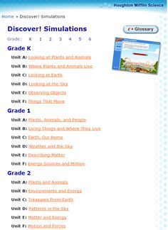 Early Stage One Units of Work and useful websites Science