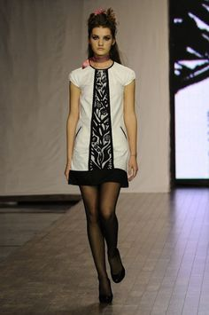 Ukrainian fashion designer Olesya Telizhenko was inspired by papercutting art, making her spring/summer 2009 collection.