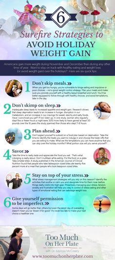 Six surefire strategies to avoid holiday weight gain