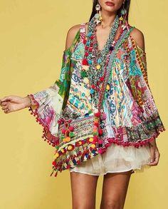 Hippie Boho, Bohemian Style, Boho Chic, Boho Fashion, Girl Fashion, Abed Mahfouz, Embroidery Fashion, Beach Dresses, Boho Outfits