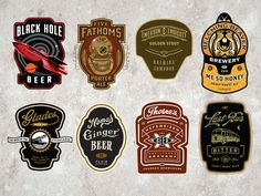 Dribbble - Cran Beer Labels by David Cran