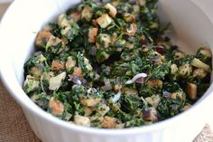 Cheese and spinach stuffing recipe