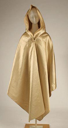 Cloak (Capuchin) silk, ca. 1810, American.