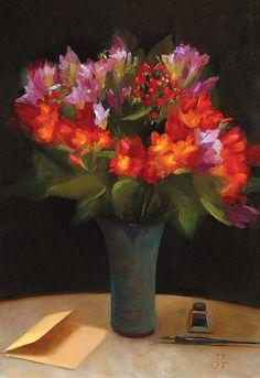 Creative Artwork, Carnations, Cut Flowers, Flower Art, Painting & Drawing, Still Life, Art Reference, Flower Paintings, Orange