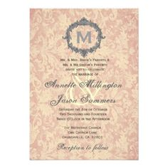 See MoreEcru Damask Silver Vintage Frame Monogram Wedding Announcementonline after you search a lot for where to buy