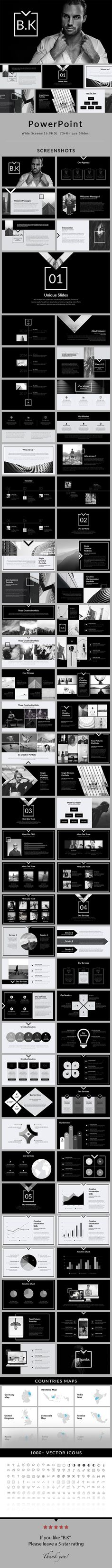 B.K - PowerPoint #Presentation #Template - Creative #PowerPoint Templates Download here:  https://graphicriver.net/item/bk-powerpoint-presentation-template/20155194?ref=alena994