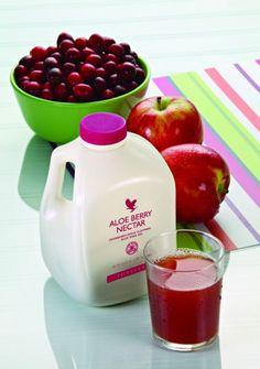 O Aloe Berry Nectar contem na sua base todos os beneficios encontrados no nosso Aloe Vera Gel mais os beneficios do Arando e Maca.