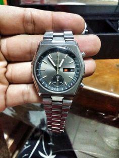 Seiko 6139 Hexagonal silver dial circa 1972