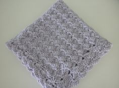 Crochet Baby Blanket Lilac with Double Pom Pom by wisdomfromabove, $38.00