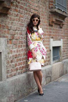 Milan Fashion Week for Spring/Summer 2015 - floral print tulip dress