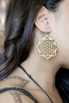 Flower of Life Sacred Geometry Earrings by SacredCircleDesign